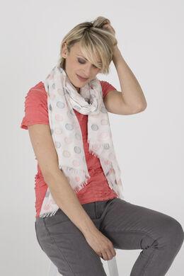 Foulard met bolletjesprint, Roze