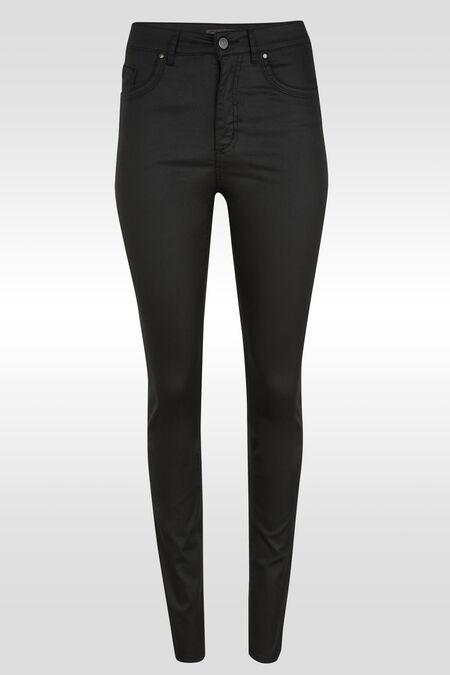 Pantalon enduit push up taille haute - Noir