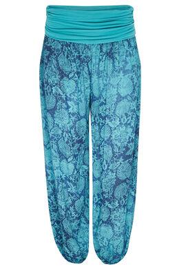 Pantalon boule imprimé, Turquoise