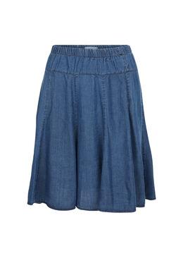 Uitlopende rok van lyocell, Blauw
