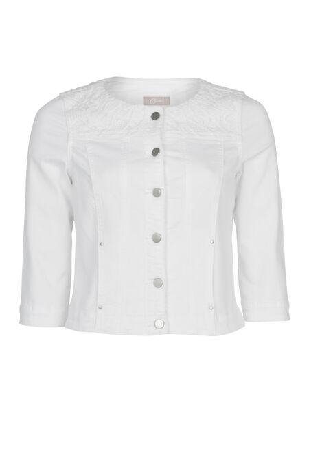 Veste en coton et dentelle - Blanc