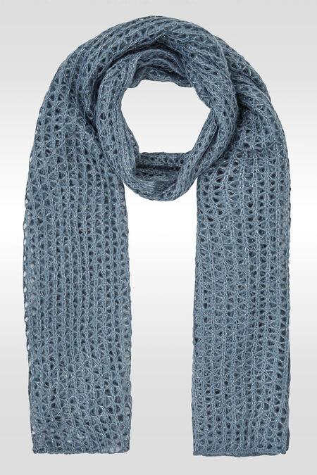 Dikke, luchtig gebreide sjaal - Lichtblauw