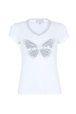T-shirt la vie est belle, Ecru