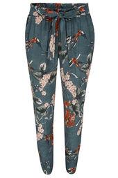 Soepele broek met Japanse print