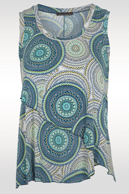 Top in soepel vallend tricot,  | Cassis