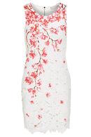 Geknoopte jurk met kersenbloesem, Roze