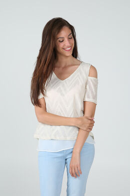T-shirt 2-in-1, Taupe