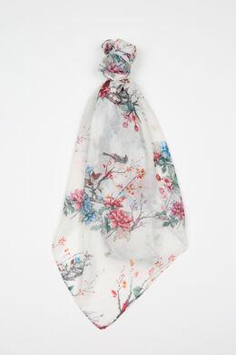 Foulard imprimé fleuri, multicolor