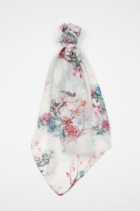 Foulard imprimé fleuri - multicolor