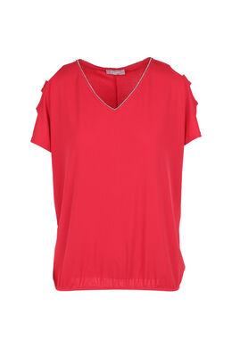 T-shirt met open schouders, Fushia