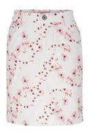 Rok in katoen met bloemenprint, Oudroze