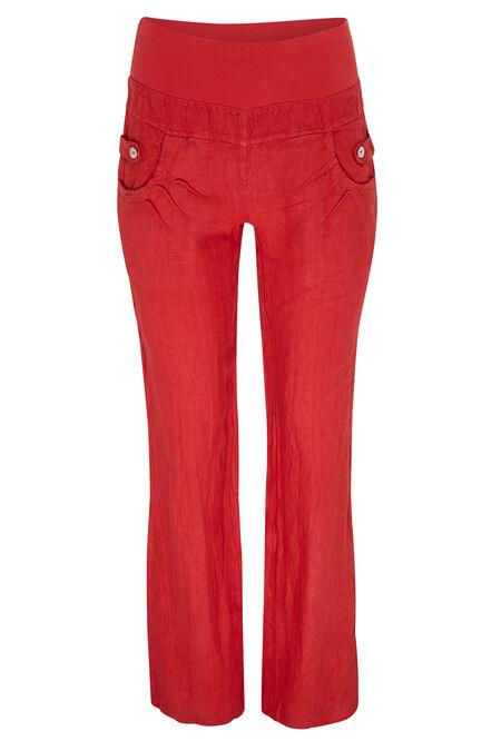 Pantalon en lin - Orange