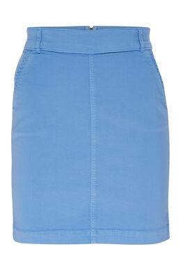 Jupe courte en coton, Bleu