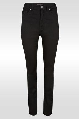 Pantalon push up droit taille haute , Noir
