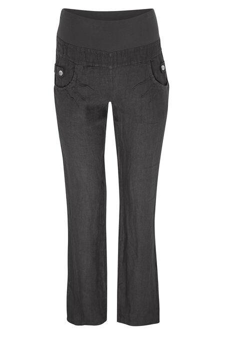 Pantalon en lin - Gris-moyen
