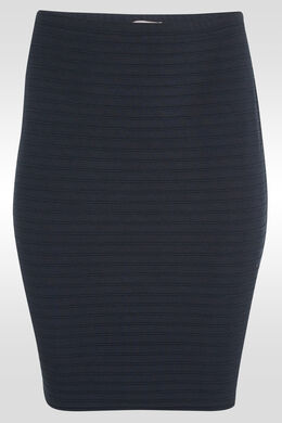 Rok in tricot, Marineblauw