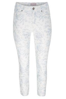 7/8-broek met bloemenprint, Blauw