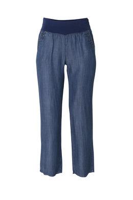 Pantalon en lyocell, Bleu