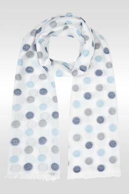 Foulard met bolletjesprint, Blauw