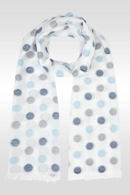 Foulard imprimé de pois - Bleu