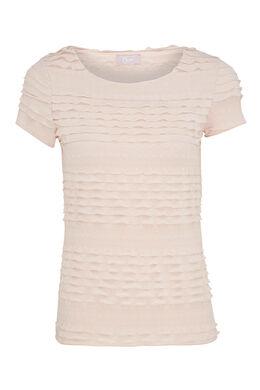 T-shirt en maille volantée, Nude