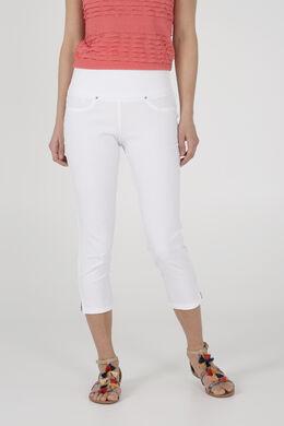 Pantacourt matière stretch, Blanc