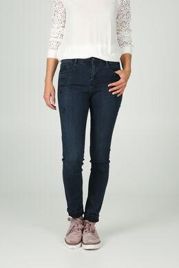 Slim jeans met strassteentjes, Donker denim