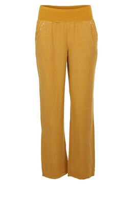 Broek in tencel, Mosterdgeel