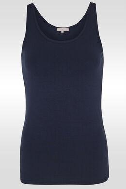 Top met brede schouderbandjes, Marineblauw