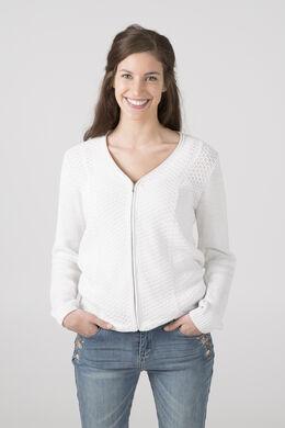 Cardigan maille structuré, Blanc