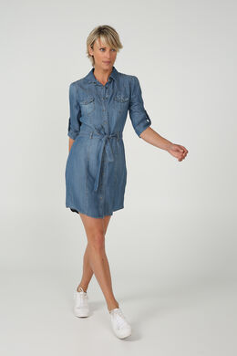 Jurk in lyocell, Denim