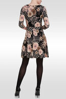 Robe fleurie en maille froide, Vieux rose
