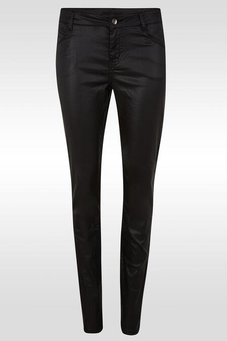 Pantalon enduit slim - Noir