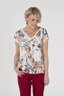 T-shirt satiné imprimé, multicolor