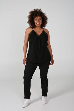 Pantalon matière stretch, Noir