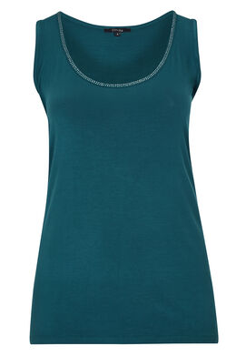 Top in viscose, Emerald groen