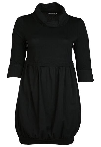 Robe avec un col boule - Noir