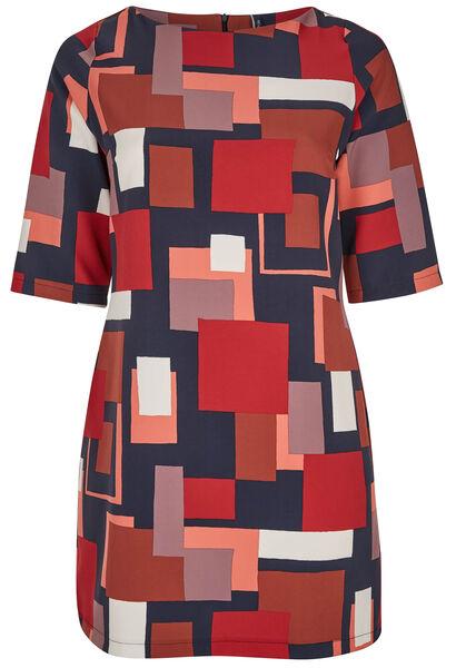 Robe imprimé géométrique - Bordeaux
