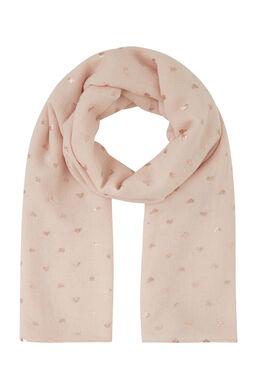 Sjaal met goudkleurige hartjes, Roze