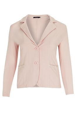 Jasje van jersey met kant en lovertjes Roze