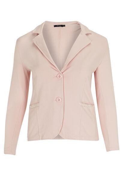 Jasje van jersey met kant en lovertjes - Roze