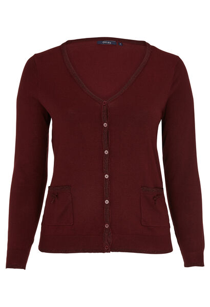 Cardigan met lurex - Bordeaux