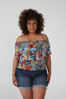T-shirt met jungleprint, Multicolor