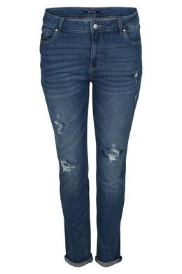 Jeans met gescheurd effect, Denim