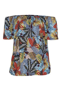T-shirt imprimé jungle, multicolor