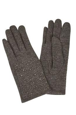 Handschoenen met strassteentjes Grijs