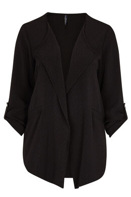Casual jasje van mini-jacquard, Zwart