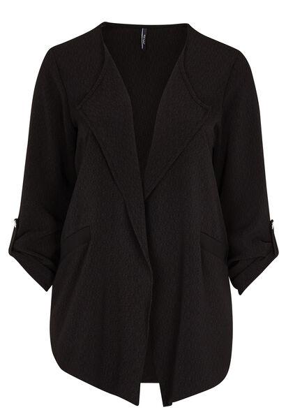 Casual jasje van mini-jacquard - Zwart