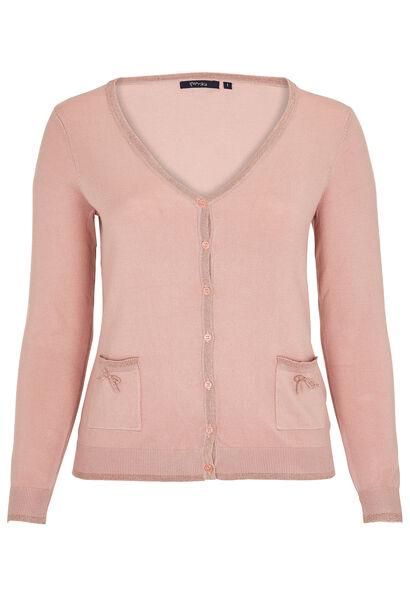 Vest met lurex - Blush