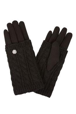 Wanten-handschoenen 2-in-1 Zwart